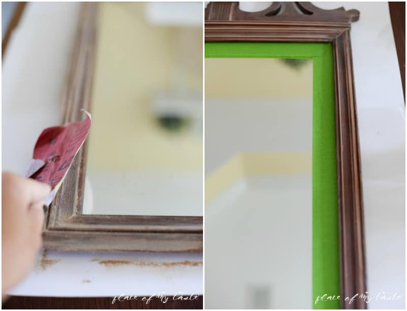 Mirror Makeover with Vintage Decor paint  Place Of My Taste