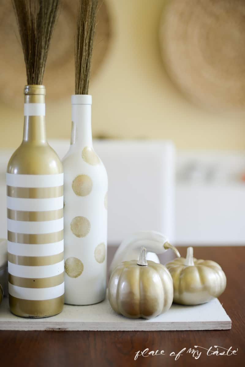 White and gold upcycled fall centerpiece- Place Of My Taste-5357