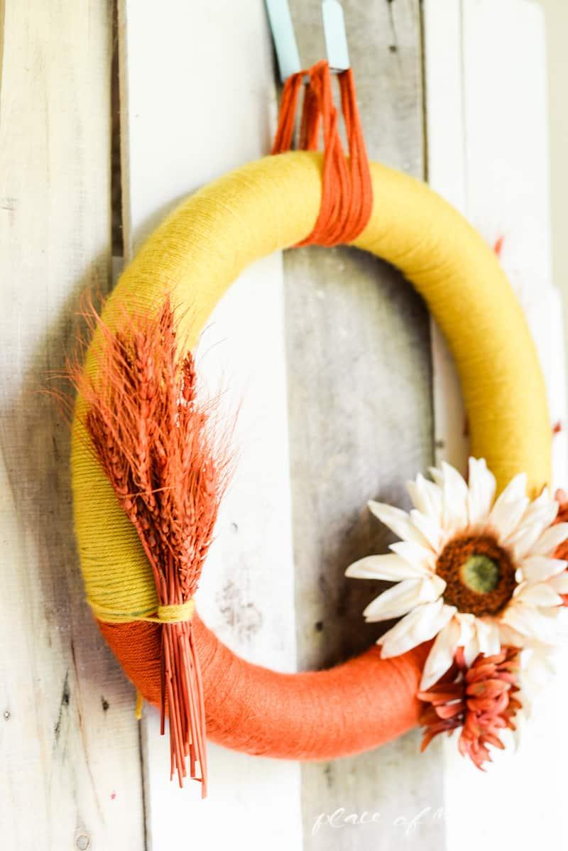 Yarn Fall Wreath - www.placeofmytaste.com-4942