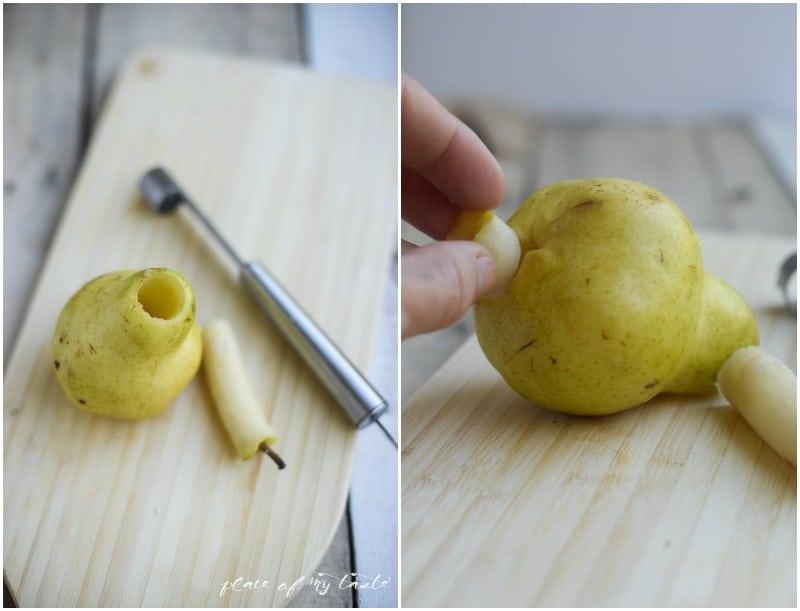 Baked pear.