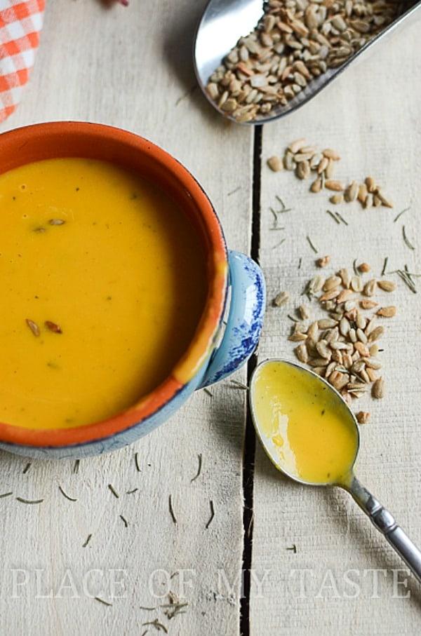 Butternut Squash Soup-Placeofmytaste.com