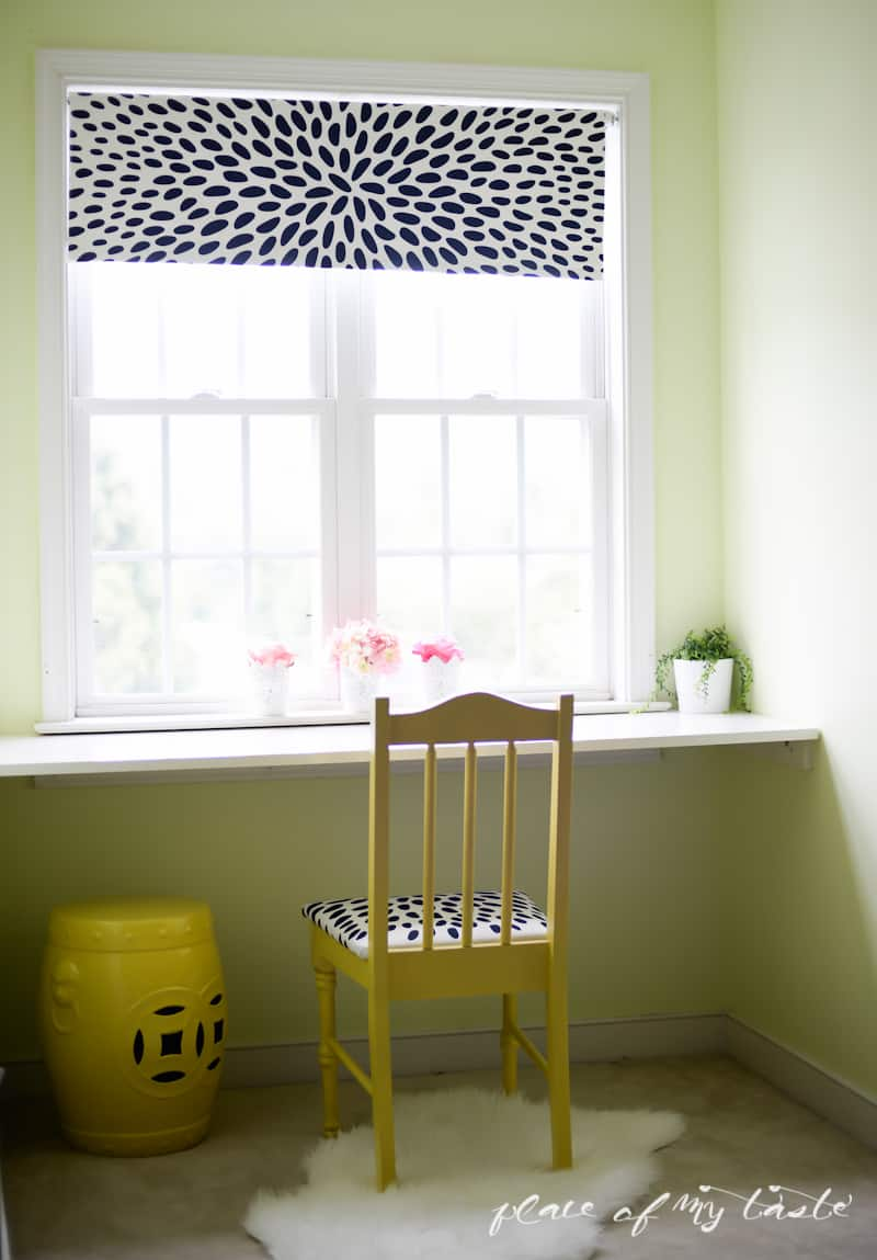 DIY fabric roller shade- One room challenge Week 3-Placeofmytaste.com-20