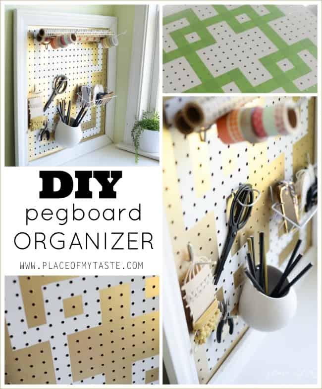DIY pegboard organizer -Placeofmytaste.com