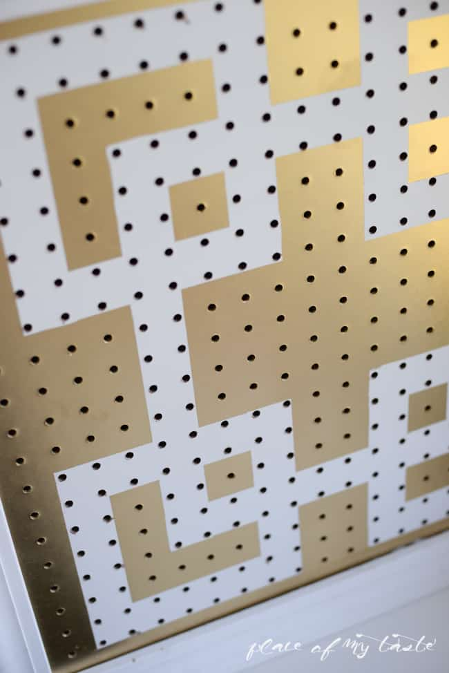 DIY pegboard organizer-gold and white-Placeofmytaste.com-2