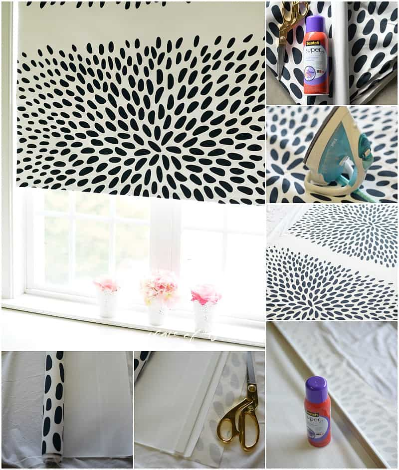 DIY roller fabric shade