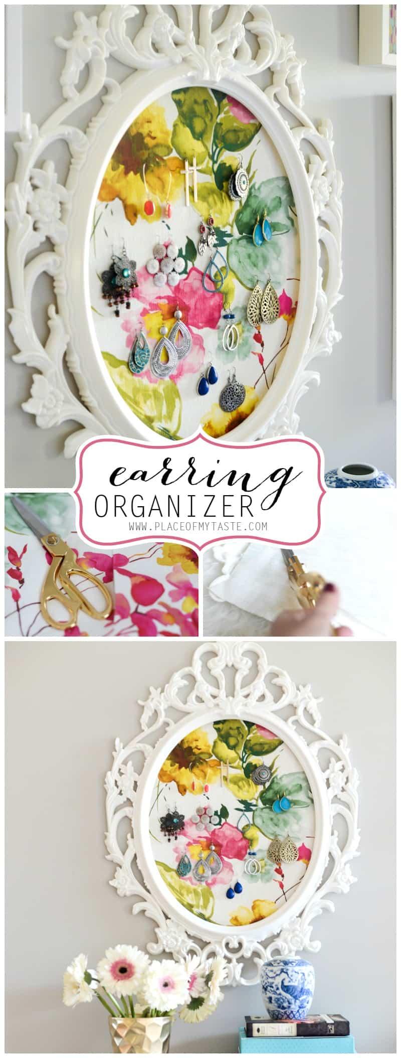 Earring Organizer- Ikea Frame - PlaceOfMyTaste.com