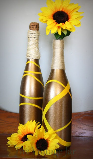 Awesome Wine bottle upcycles for the fall- Placeofmytaste.com