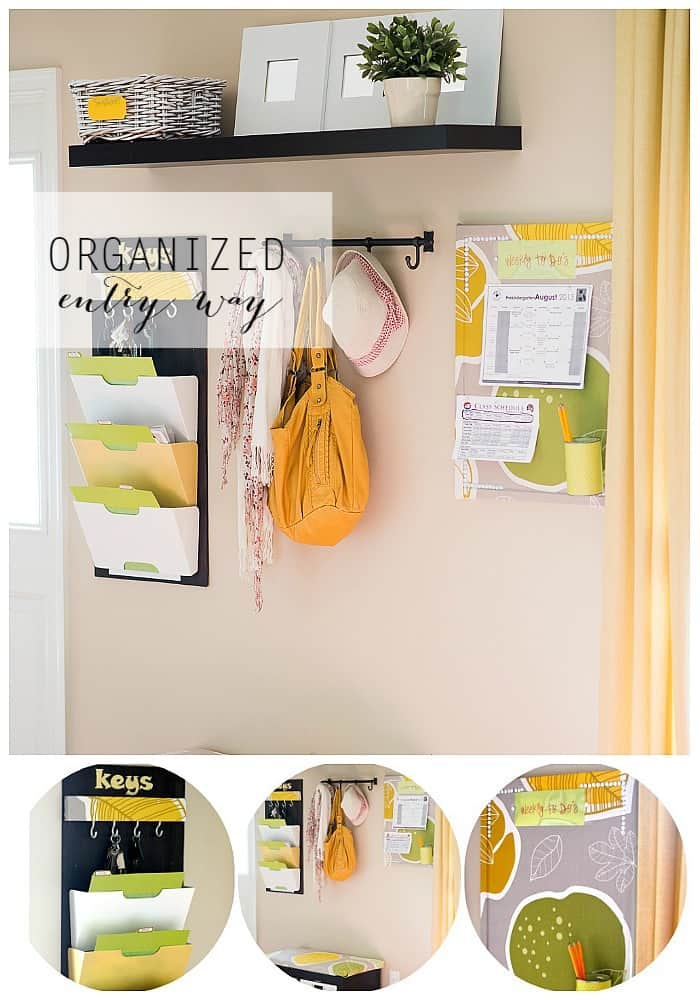 organized entry way