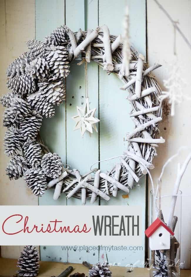 Christmas Wreath - www.placeofmytaste.com)