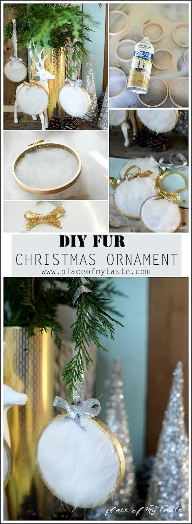 DIY Fur Christmas Ornament.