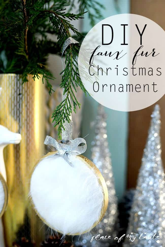 DIY faux fur Christmas Ornament-
