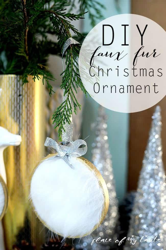 DIY faux fur Christmas Ornament-