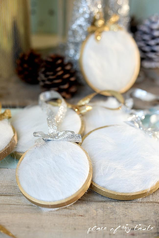 DIY fur Christmas Ornament-5