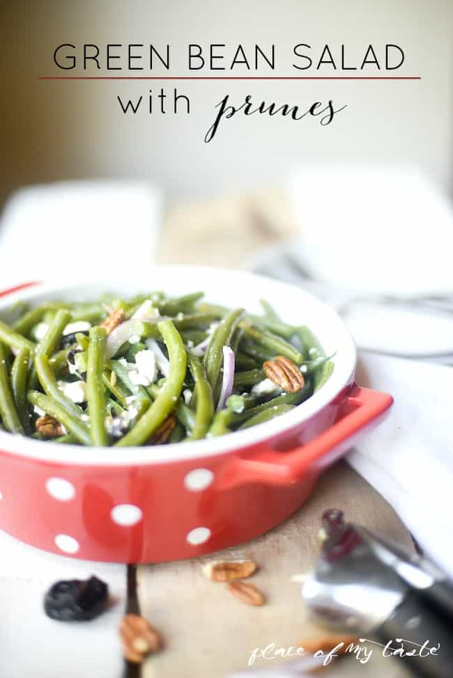 Green bean salad with prunes - Placeofmytaste.com-