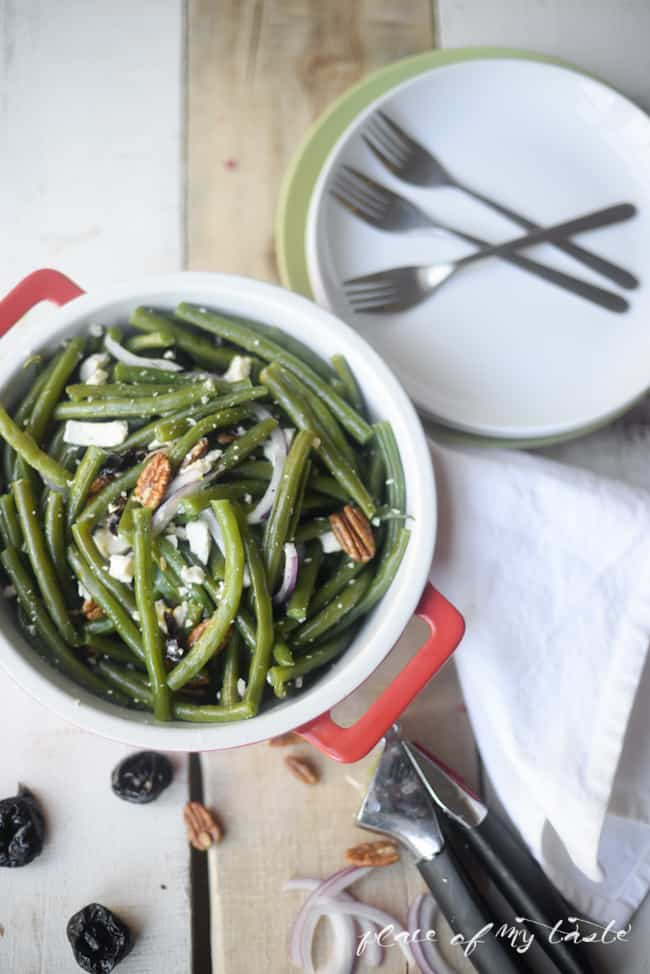 Green beans salad with prunes - Placeofmytaste.com-3