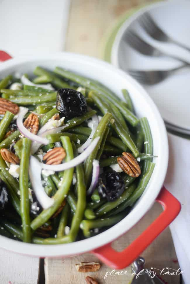 Green beans salad with prunes - Placeofmytaste.com-5