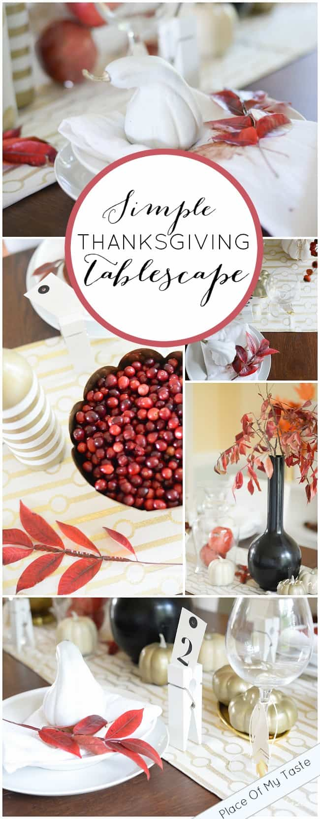 Simple Thanksgiving Tablescape-Placeofmytaste.com