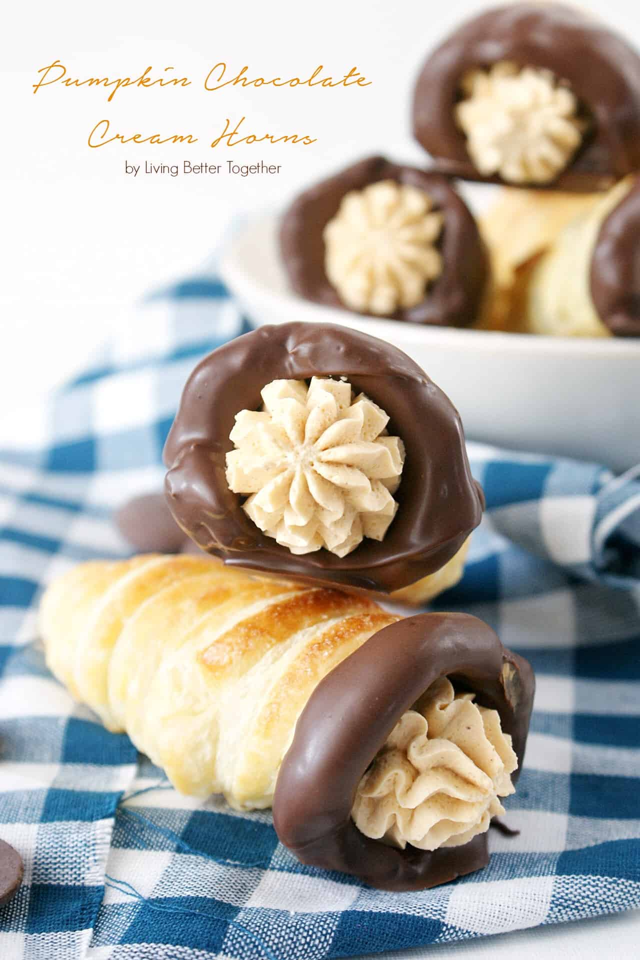 Pumpkin Chocolate Cream Horns