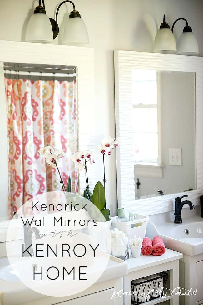Bathroom makeover-Kendrick Wall Mirrors with Kenroy HOme