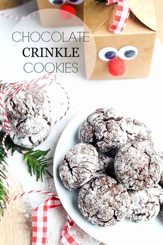 christmas recipes are the best these chocolate crinkle cookies are amazing this cookie recipe