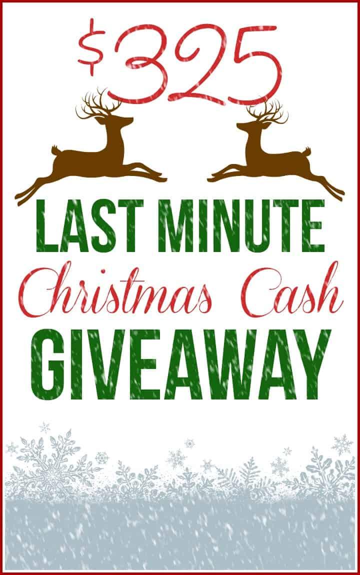 LAST MINUTE CASH GIVEAWAY