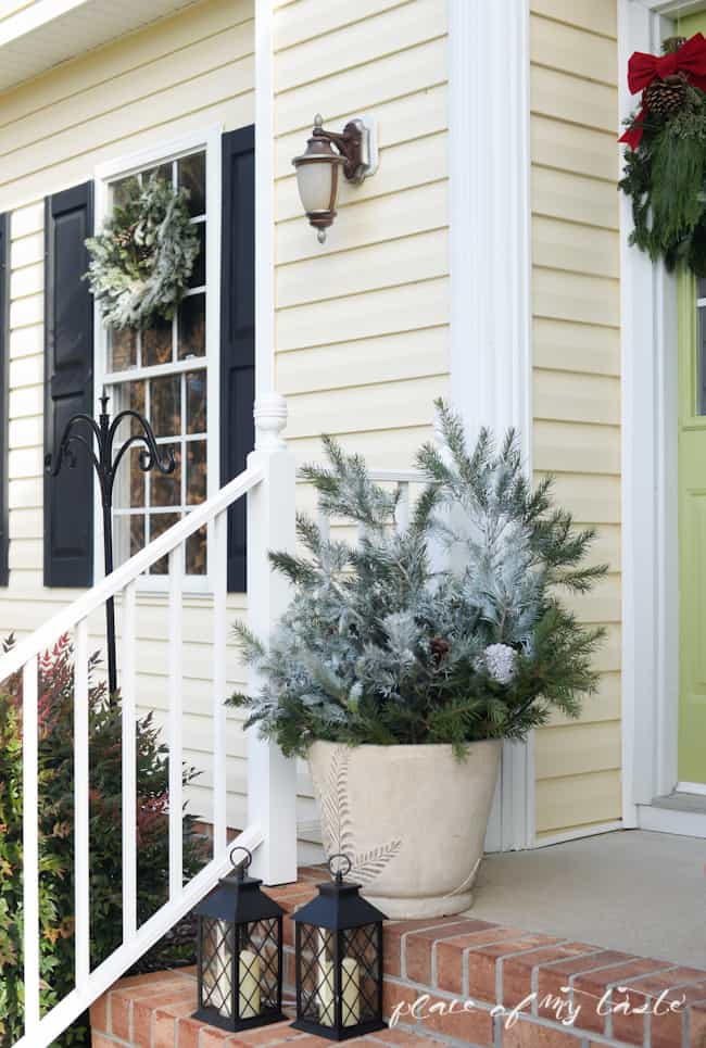 Christmas home tour,front porch and  dining room-11