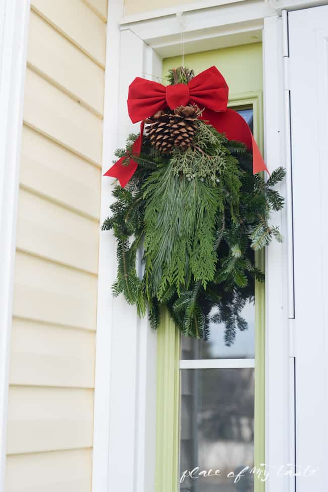 Christmas home tour,front porch and  dining room-13