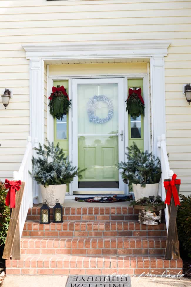 Christmas home tour,front porch and  dining room-15