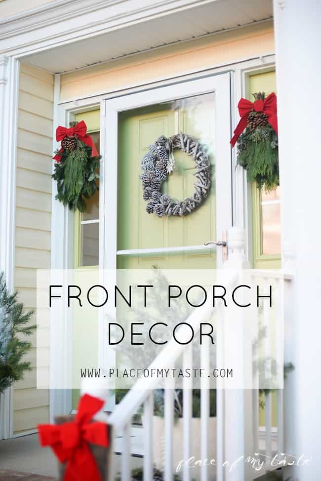 Christmas home tour,front porch and  dining room-2