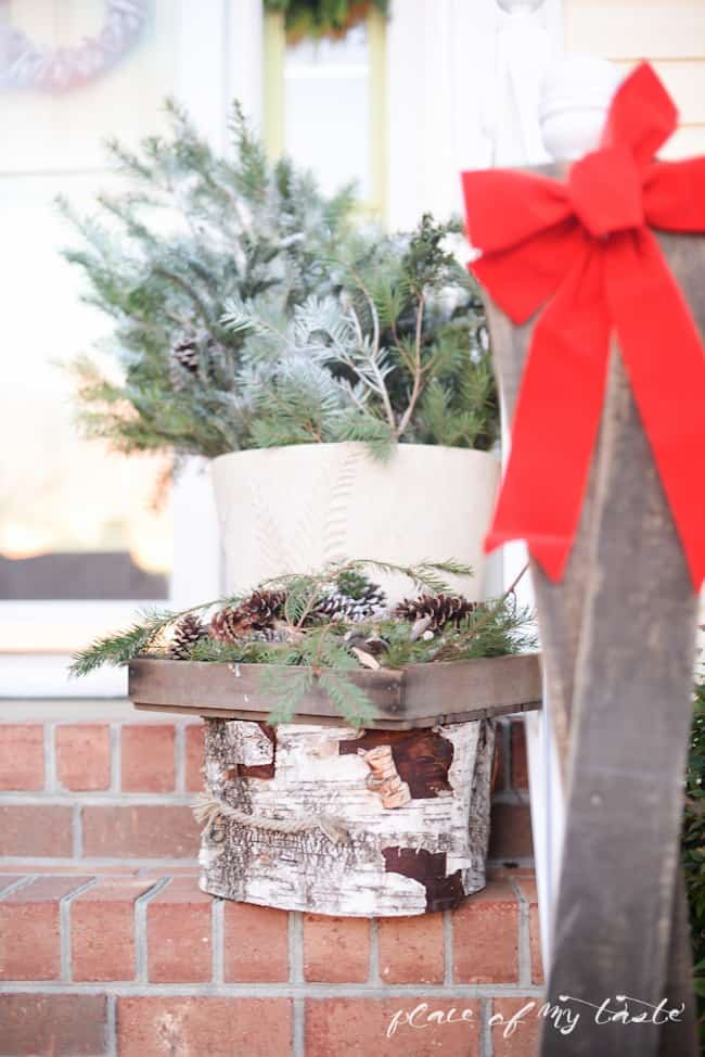 Christmas home tour,front porch and  dining room-5