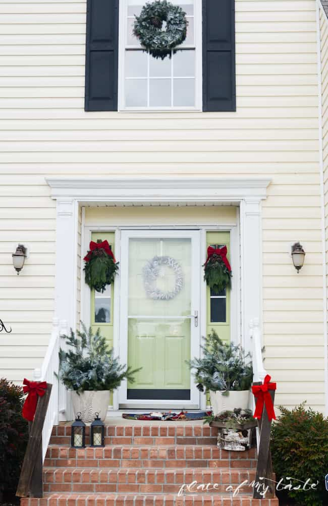 Christmas home tour,front porch and dining room-66