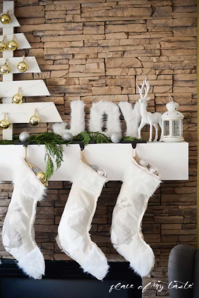 DIY NO SEW stenciled stockings -Placeofmytaste.com-6