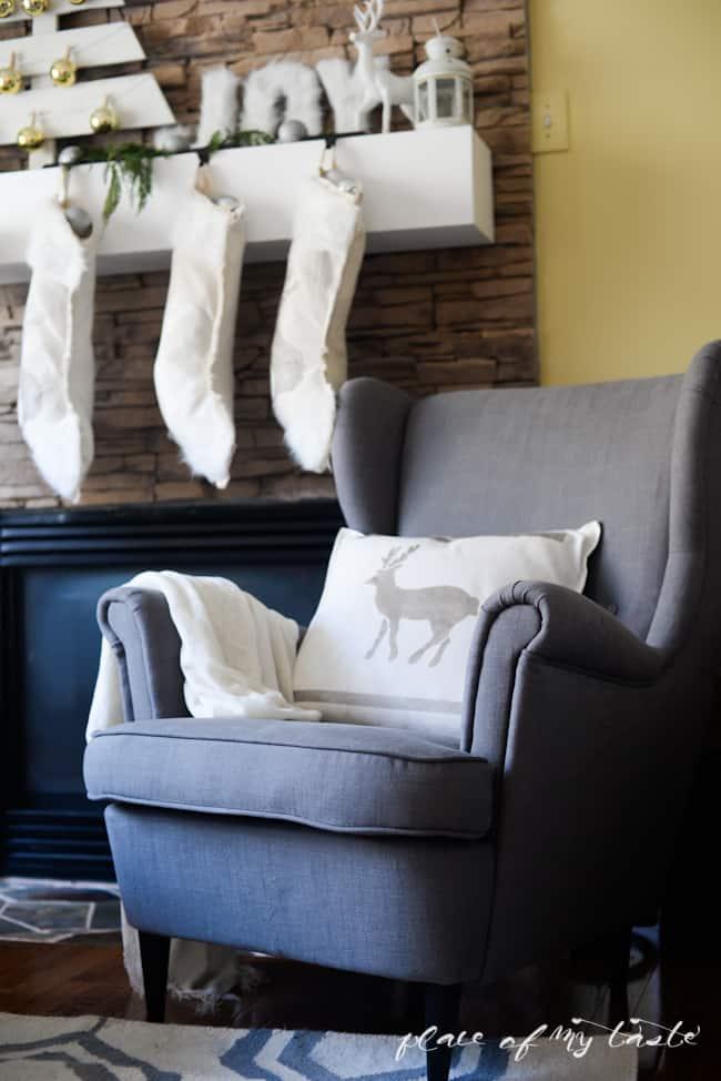 DIY NO SEW stenciled stockings -Placeofmytaste.com-8-2