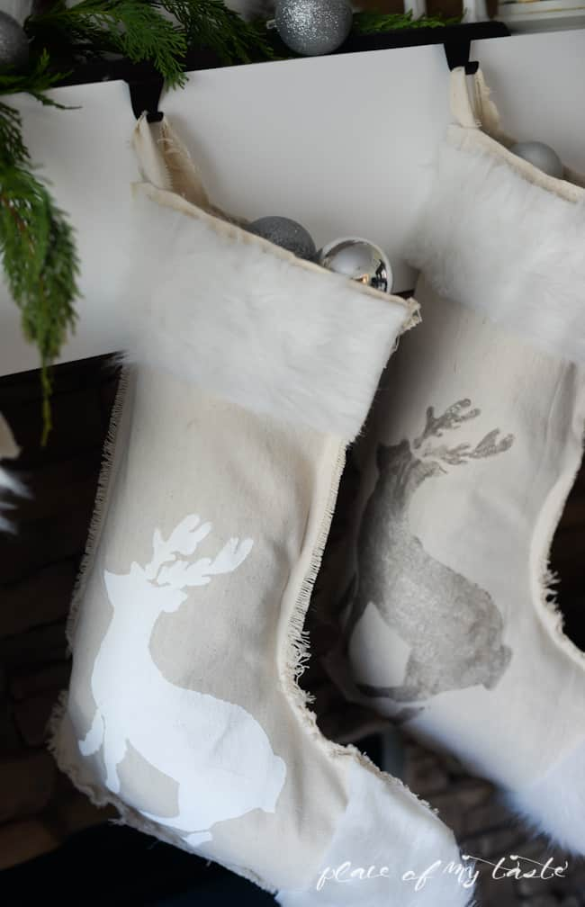 DIY NO SEW stenciled stockings -Placeofmytaste.com-9-2