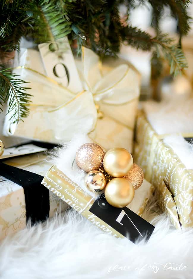 FESTIVE GIFT WRAPPING WITH FAUX FUR
