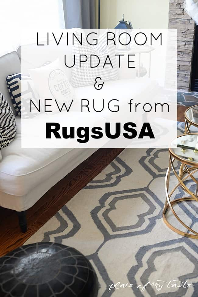 Living room update and a new rug from Rugs USA)