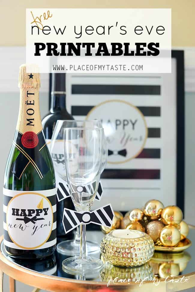 New year's eve printables- Placeofmytaste.com