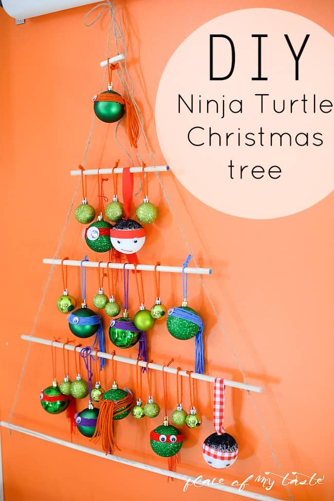 DIY NINJA TURTLE CHRISTMAS TREE