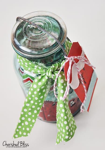 Reindeer Mason Jar Gift Card Holder 7 More