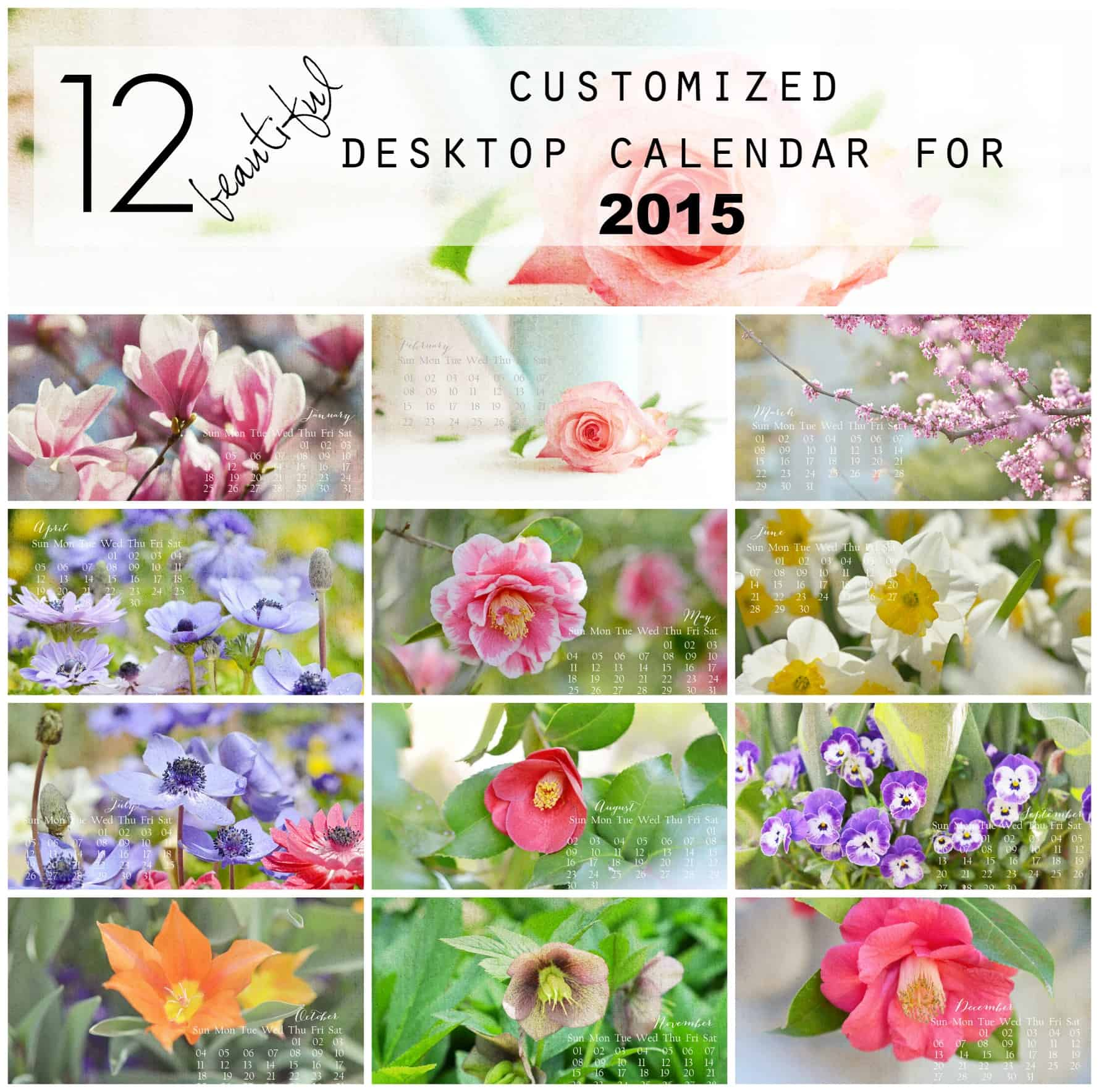 12 beautiful customized desktop calendar