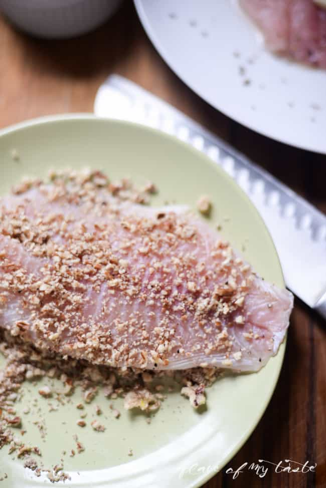 15 minutes dinner-Pecan Crusted Tilapia-2