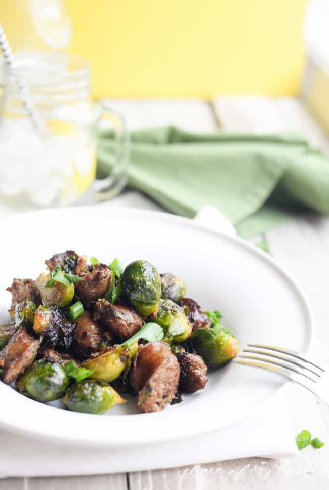 Brussels Sprouts with Italian Sausage- Placeofmytaste.com-8