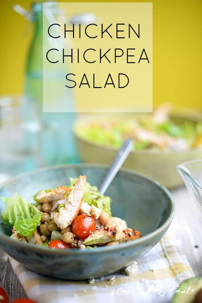 Chicken chickpea salad -  Placeofmytaste.com