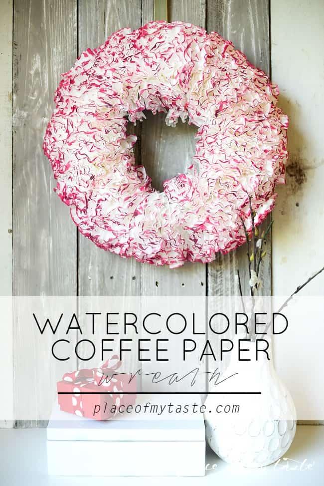 Coffee paper wreath-Valentine wreath-1-