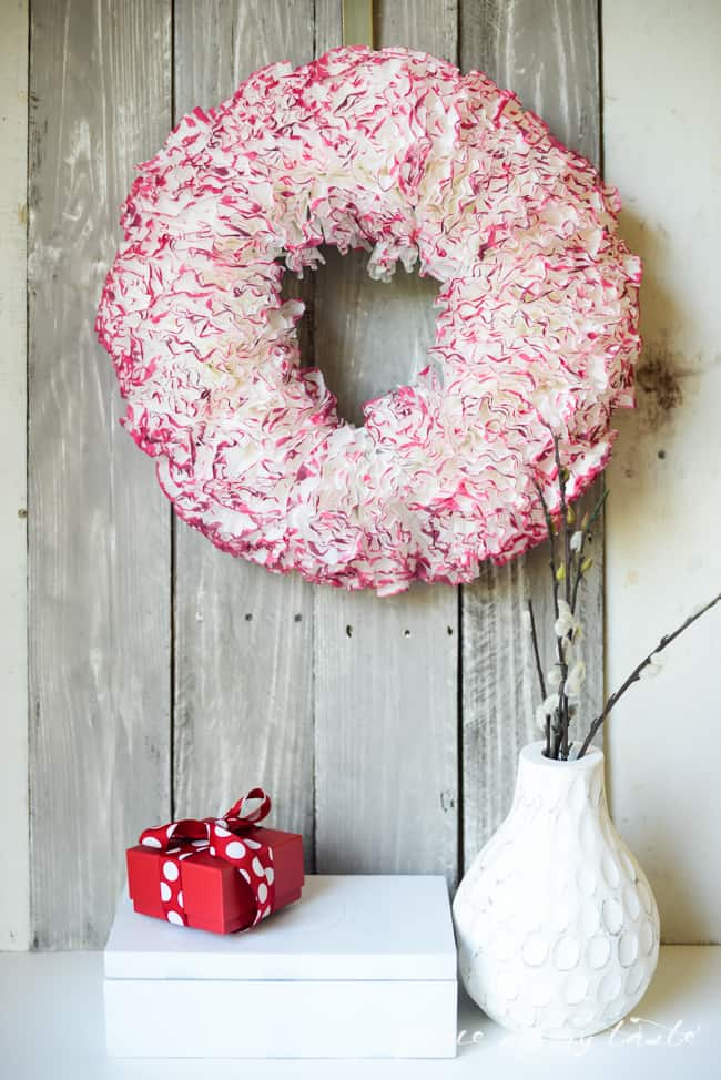 Coffee paper wreath-Valentine wreath-1-3