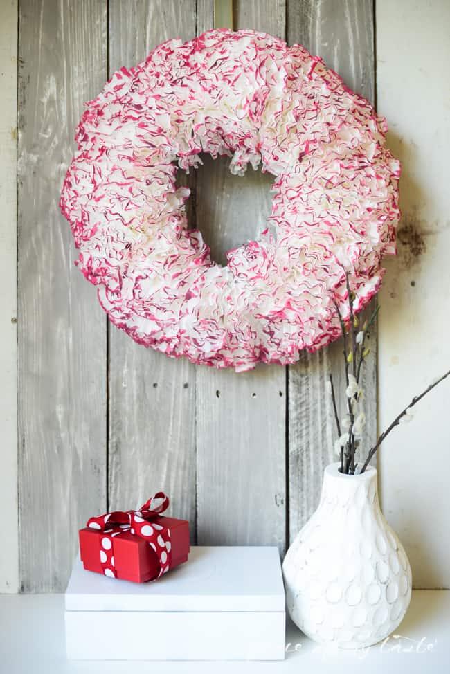 Coffee paper wreath-Valentine wreath-1-3