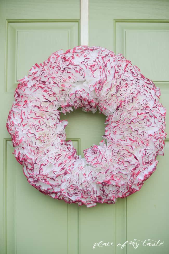 Coffee paper wreath-Valentine wreath-1-4