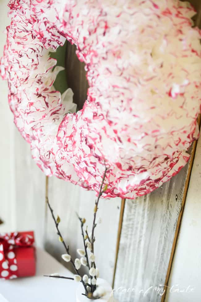 Coffee paper wreath-Valentine wreath-16
