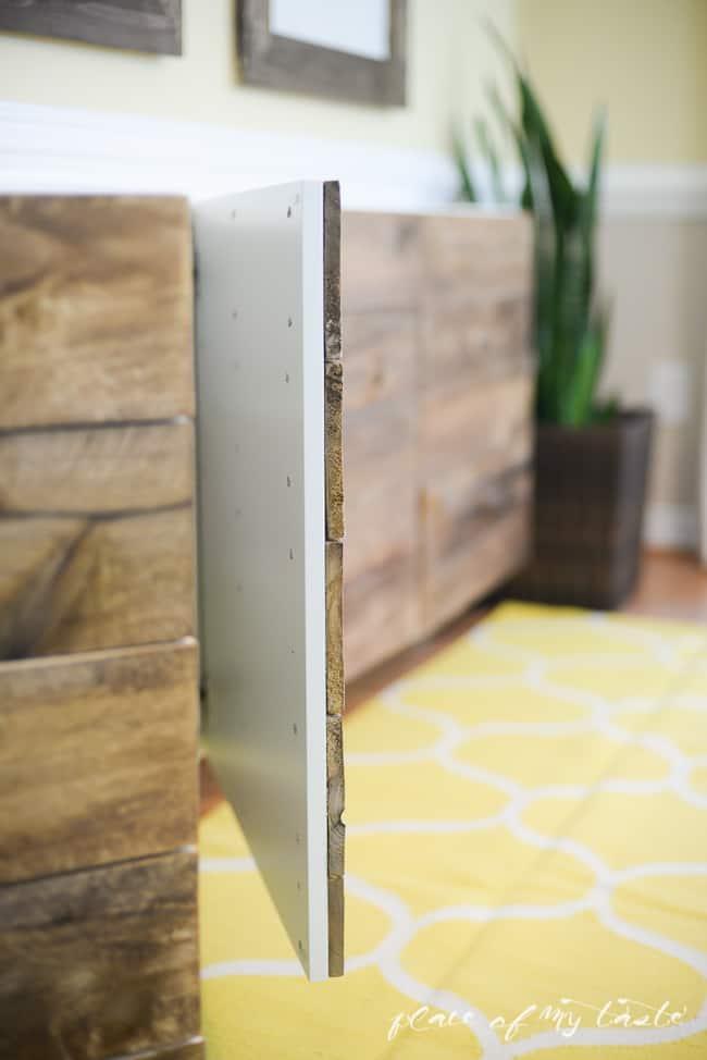 DIY RECLAIMED WOOD BUFFET u2013 IKEA HACKS