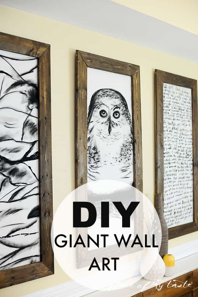 DIY GIANT WALL ART - Placeofmytaste.com